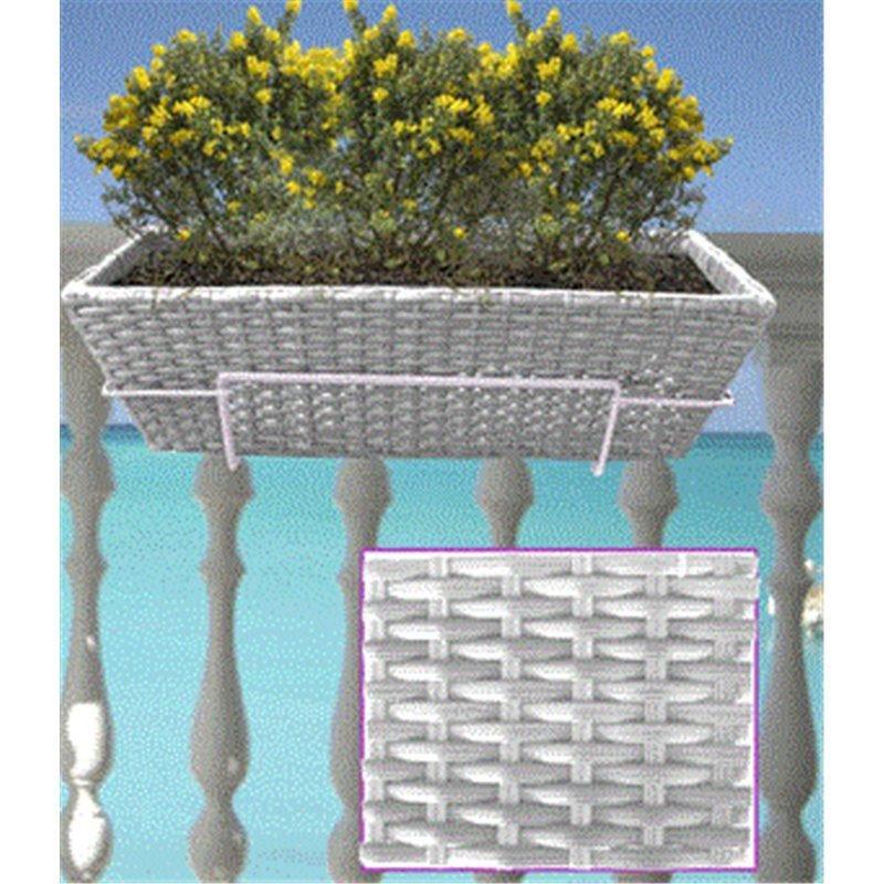 Balconnière imitation rotin avec support (30108201)