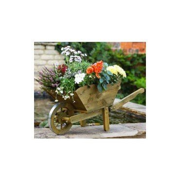 """Bac à fleurs """"Brouette"""" en bois naturel (30140301)"""