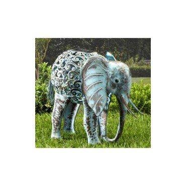 Eléphant lumineux en métal (30136502)