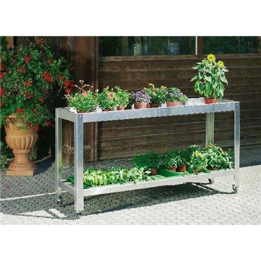 Table à plantes en alu