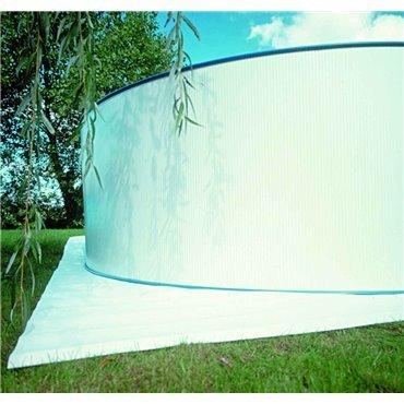Tapis de sol blanc (polyester 110 g/m2)